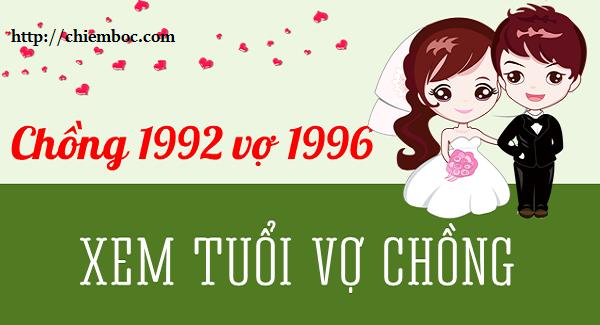 Xem hợp tuổi chồng Nhâm Thân 1992 vợ Bính Tý 1996