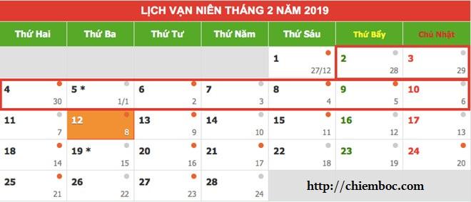 Đã có Lịch nghỉ Tết âm lịch 2019 chính thức