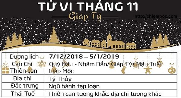 Lịch tháng 11/2018 âm lịch, từ ngày 07/12/2018 - 05/01/2019 dương