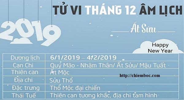 Lịch tháng 12/2018 âm, từ ngày 06/01/2019 đến ngày 04/02/2019 dương lịch